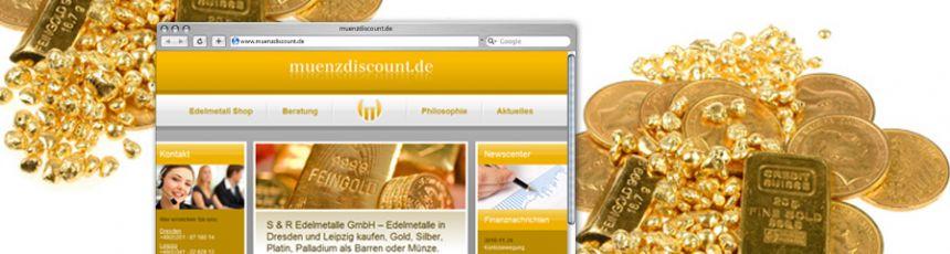 Münzdiscount-Webseite